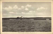 Lockeport Nova Scotia Harbour Lighthouse Old Postcard