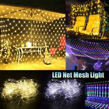 Fada cordão de luzes Led Rede Cortina de Malha Led À Prova D 'água plugue UE Natal Ao Ar Livre