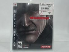 METAL GEAR SOLID 4 GUNS OF THE PATRIOTS Playstation 3 PS3 Complete CIB Stickers