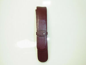 Vintage German MONTBLANC Burgundy Leather Pouch / Case for Fountain Pen