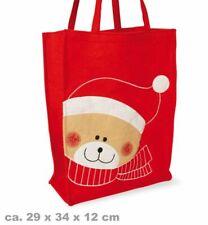 Tasche Nikolaus, ca. 29 x 40 x 12 cm Weihnachtstasche Geschenketasche