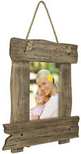 Rustic Wooden Picture Frame: Shabby Chic Wall Hanging Frame fits 5x7 Photo