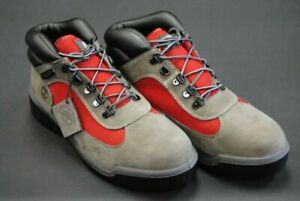 Timberland Field Boot Waterproof Grey / Red #A1RDJ