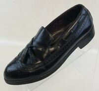 Florsheim Mens Royal Imperial Loafers Wingtip Brogue Black Leather Shoes Size 9D