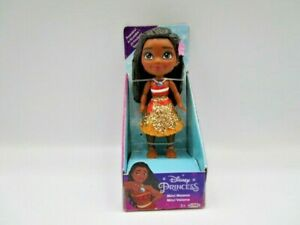 "Disney Princess Mini Toddler Moana Glitter Dress Posable Doll 3"" Figure"