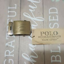 POLO DENIM AND SUPPLY  SOLID BRASS SLIDER BUCKLE