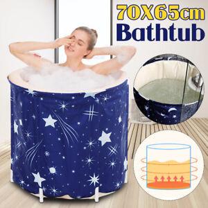 65X70CM Portable Bathtub Folding Bath Tub Adult Spa Soaking Water Barrel Bucket