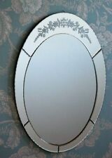 Frameless Oval Decorative Mirrors with Bevelled
