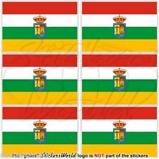 "LA RIOJA Flag SPAIN Comunidad Autónoma Spanish 40mm (1,6"") Stickers Decals x6"