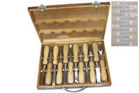 Schnitz Werkzeug Set Beitel Holz Bearbeitung Schnitzeisen Satz Schnitzmesser BGS