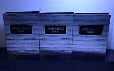 3 x Jimmy Choo MAN Eau de Toilette Men Perfume Spray Sample .06 oz /2 ml Each