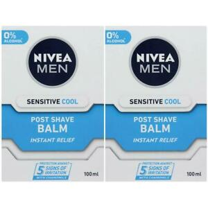 2 x Nivea Men Post Shave Balm, Sensitive Cool - Instant Relief - Fast Absorbing