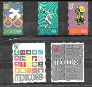 #923 MEXICO 1968 SPORT OLYMPIC GAMES MEXICO 68 YV AE 292-6 MNH