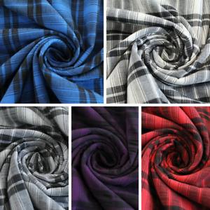 "Tartan Summer Checks Polyester Fabric - 5 Colours 60"" Wide"