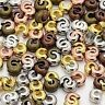4mm Crimp Cover Mixed Color Gold Silver Bronze Copper Knot Jewelry Findings