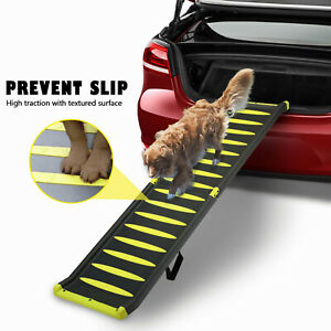 """63"""" Dog Car Ramp Bi-Fold Portable Pet Ramp for Dog Cat Hold up to 330LBS for Bed"""