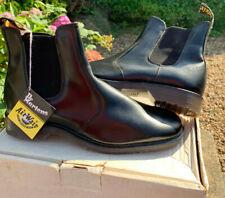 Rare Vintage Doc Dr Martens 2976 Black Leather Dealer Chelsea Boots Size 10 NEW