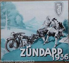 ZÜNDAPP 1936 PROSPEKT K800 KS500 K500 K350 KK DB OLDTIMER MOTORRAD NÜRNBERG