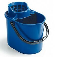 More details for plastic buckets - deluxe mop, black builders bucket, homeware round bucket