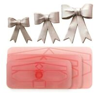 JEM Large Bows Icing Cutter Cut Out Sugarcraft Cake Decorating Tool Set Of 3