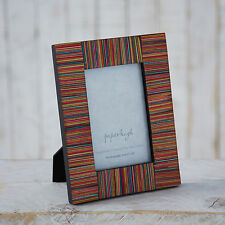 Fair Trade Dhari Hand Craved Mango Wood Multi-coloured Photo Frame - 6 x 4 image