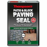 Thompson's NATURAL Finish Sealer PATIO AND BLOCK Paving Seal Protector 5 Litre