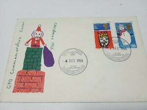 GB 1966 Xmas. FDC x2 with Forces postmark.