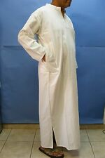 WOW STOP ! WHITE Man Daffah THOBE Thoub Galabiya Jellabiya Jellaba Caftan XL NEW