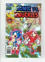 Super Sonic Vs. Hyper Knuckles #1 1996 Canadian Newsstand Price Variant Rare