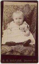 SWEET BABY - STUDIO PORTRAIT BY C. C. CRABB, SEYMOUR, IND., CDV