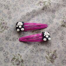 Black Cat Hair clips/slides Handmade Cute Gift