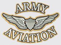 ARMY AVIATION  MILITARY CAR WINDOW STICKER DECAL