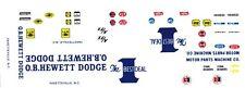 O.B. Hewett 1964-67 Dodge 1/24th - 1/25th Scale Waterslide Decals