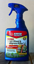 Bayer Lawn Weed and Crabgrass Killer 4 Bottles 24 Ounces each Rtu