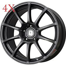 Drag Wheels DR-49 18X8 5/114 +45 offset Flat Black Full Rims For g35 s2000 350z