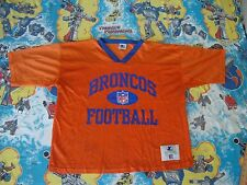 Vintage NFL DENVER BRONCOS Authentic Mesh Starter Practice Football Jersey 52 XL