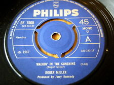 """ROGER MILLER - WALKIN' IN THE SUNSHINE  7"""" VINYL"""
