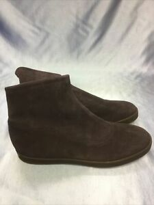 Peter Kaiser Ankle Boots Navy Blue Suede Comfort Stretchy UK 8 Ladies Shoe BNWOT