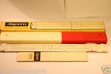 ARISTO JUNIOR SLIDE RULE 1962 PLASTIC CASE INSTRUCTIONS MADE IN GERMANY