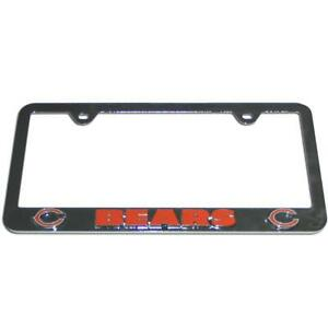 Chicago Bears Chrome License Tag Frame [NEW] NFL Plate Car Truck Auto