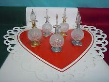 Hand Blown Egyptian decorative glass perfumed bottle with 24 karat Gold paint