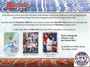Dillon Dingler 2020 Bowman's Best Baseball Full Case 12Box Break