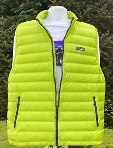 Patagonia Men's Down Sweater Vest XL Peppergrass Green New