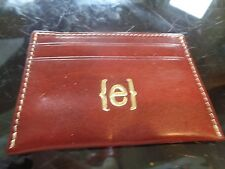 """Pottery Barn Mark and Graham Leather credit card case  monogrammed """"e"""" New"""