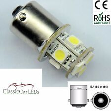 2x 6V 6 VOLT WARM WHITE LED BULBS GLB205 BA15S 5W POSITIVE EARTH NEGATIVE EARTH