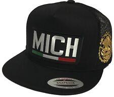 MICHOACAN MEXICO LOGO FEDERAL 2 LOGOS HAT BLACK MESH SNAPBACK
