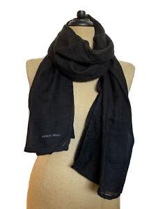 Giorgio Armani Black Label Scarf unisex cashmere