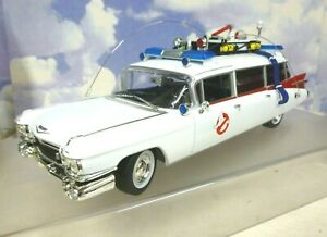 AUTO WORLD 1/18 1959 CADILLAC AMBULANCE ECTO-1 FROM GHOSTBUSTERS MOVIE AWSS118