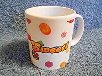 2014 CANDY CRUSH - SWEET - CERAMIC PORCELAIN COFFEE CUP MUG BY KING .COM - NICE