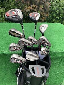 Lovely RH Men's Wilson Staff D-200 HDX Full Golf Club Set Irons Woods Bag